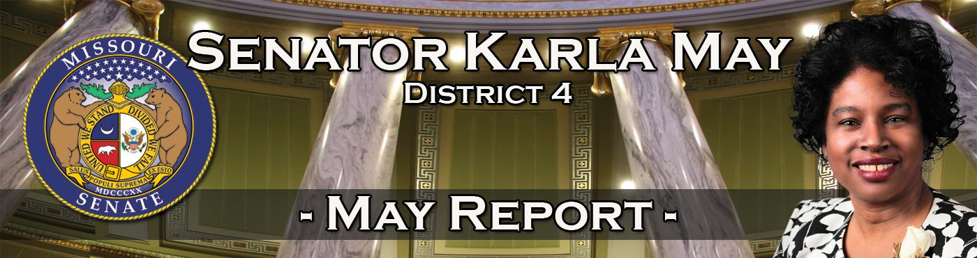 Sen. Karla May's May Report for the Week of May 3, 2021